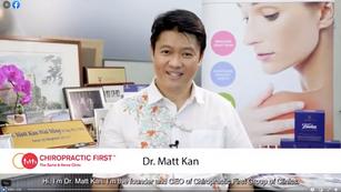 Interview of Dr. Matt Kan at Chiropractic First Group