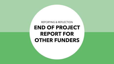 End of project report for other funders
