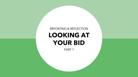 Looking at your original bid - Part 1