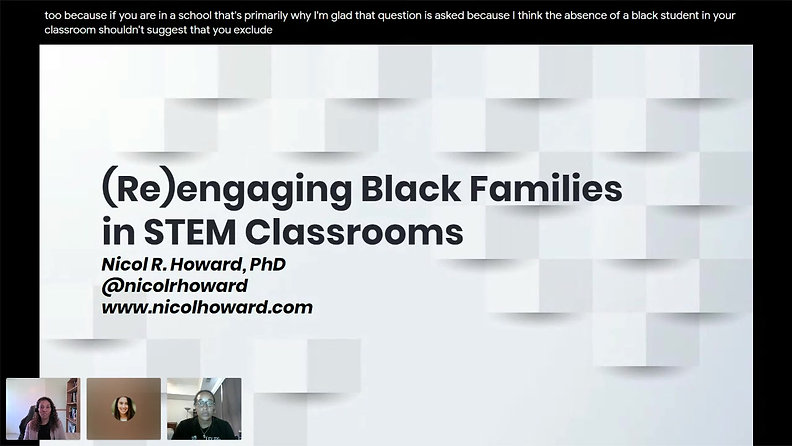 (Re)engaging Black Parents in STEM Classrooms