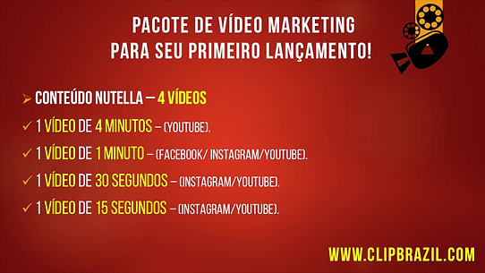Vídeo Marketing - Pacote Nutella