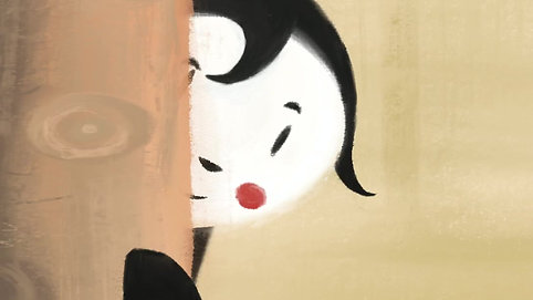 Maria bola joaninha olha curiosa