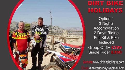 Dirt Bike Holidays In Spain