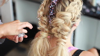 Surreal Blow Out Bar Glitter Braids
