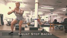 Squat Step Backs