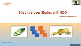 Effective User Stories with BDD by Mohammed Rowther April 2020