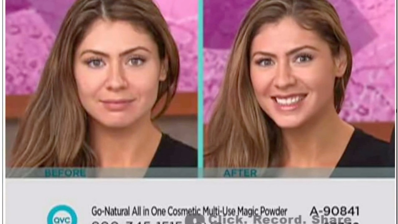 (1 Min) QVC 30 Second Challenge Demo 1 - 24 Seconds !  Go-Natural ALL-IN-ONE Cosmetic Multi-Use Magic Powder