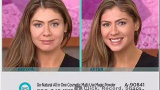 (1 Min) QVC 30 Second Challenge Demo 1 - 24 Seconds !  Go-Natural ALL-IN-ONE Cosmetic Multi-Use Magic Powder