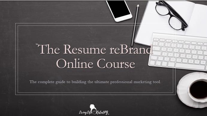 Resume Rebrand Online Course