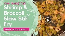 Shrimp & Broccoli Slaw Stir Fry