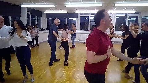 Salsa practice session, Belfast