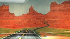 Test drive into Monument Valley mural
