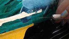 Trolley car restoration Oil paint
