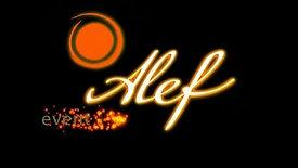 Alef event agency. Графическая заставка 1