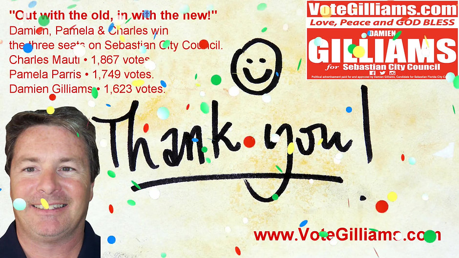 Thank you for your vote and overwhelming support!