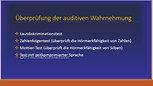Auditive Verarbeitung und Wahrnehmung