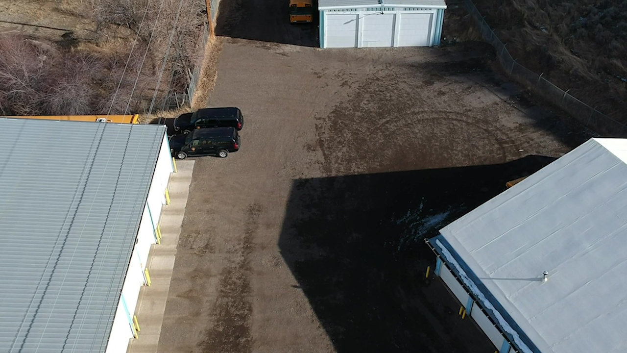 Bus Barn Aerial Footage