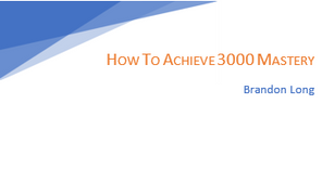 How to - Achieve 3000 Mastery