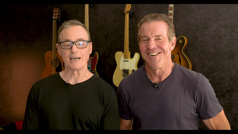 W. Bruce Cameron and Dennis Quaid