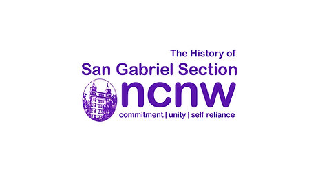 The History of NCNW San Gabriel Section