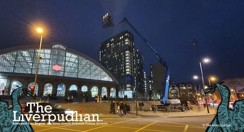 Camera Crews Filming 'The Batman' In Liverpool City Centre