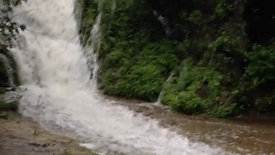 Grotto Falls In The Rainy Season
