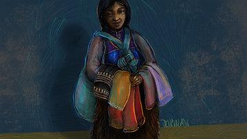 Femme de San Juan Chamula dans les rues de San Cristobal de las Casas