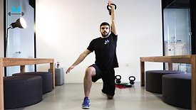Kettlebell Single Arm Clean and Press