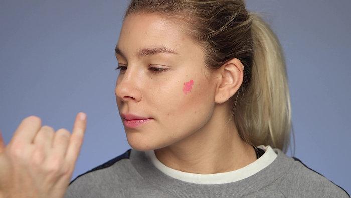 Angled Chin -Blush Application Techniques