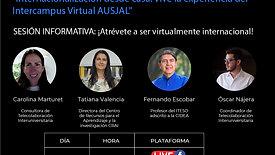 """Sesión informativa: """"Internacionalización desde casa. Vive la experiencia del Intercampus Virtual AUSJAL"""""""