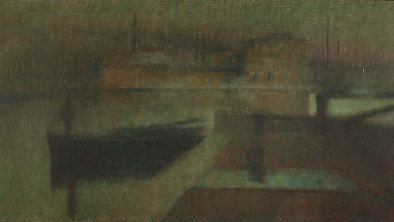 Emanuel Vidovic: Split Harbour - Unfinished Painting