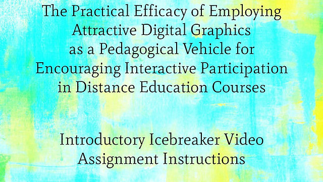 Introductory Icebreaker Video Assignment with Images