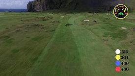 Fjórða hola hjá Golfklúbbi Vestmannaeyja