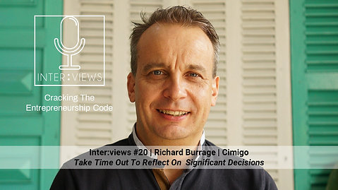 Take Time Out To Reflect | Inter:views 20 | Richard Burrage