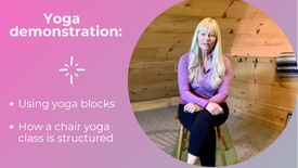 Demonstration Yoga Blocks and Chair Yoga Class