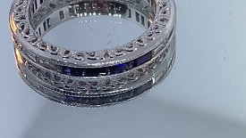 Redesigned Sapphire and Diamond Eternity Band