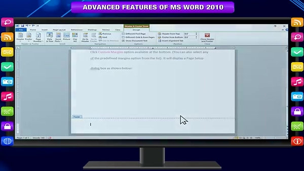 ADVANCED FEATURES OF MS WORD 2010 class-6