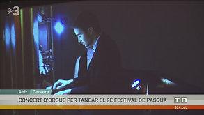 TV3 - Telenotícies - Concert de Cloenda del 9è Festival de Pasqua de Cervera