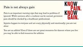 Mental Health for dancers: Dr. Danielle Burton