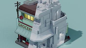 Isometric House based on Jesse Riggle's design