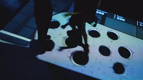 Beam floor projector