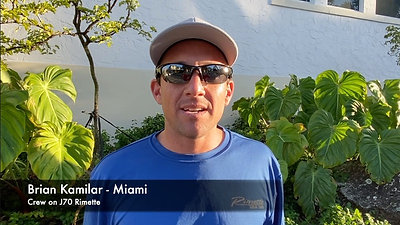 Brian Kamilar of J70 Rimette at 2020 Bacardi Winter Series Two in Miami