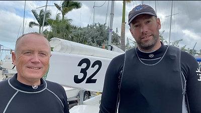 Jørgen Schönherr and Markus Koy win windy race one at Star Midwinters in Miami