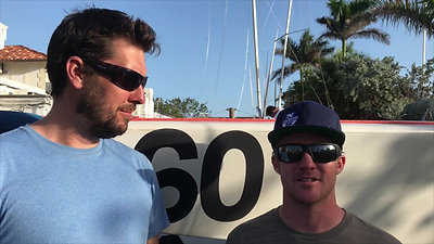 Phil Toth & Reed Baldrige (USA) Talk about sailing the 2018 Star Midwinters in Champagne Coditions in Miami
