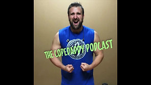 """Kevin on the other side of the microphone on """"The Copedaddy Podcast""""."""