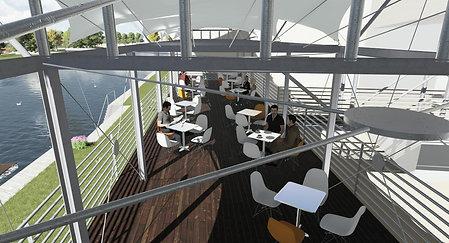 Membránové zastřešení terasy Strakonice