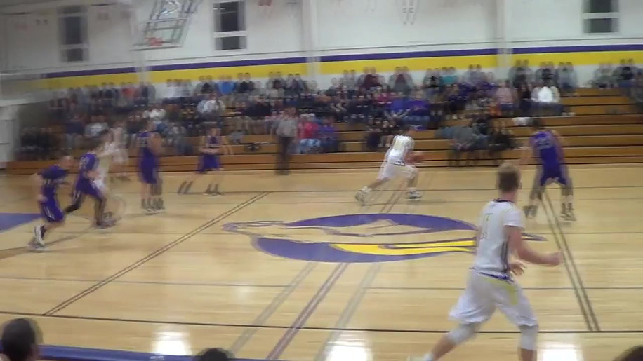 Caden Getz with 1 of his 3 Dunks in this Game