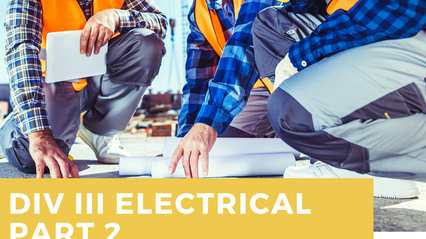 Div III Electrical Inspection Prep Course 2