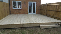 RECLAIMED SCAFFOLD BOARD DECKING INSTALLATION
