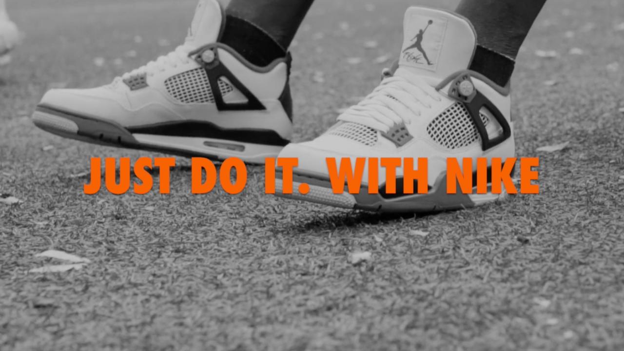 Nike Mock Ad - Blk & Wht